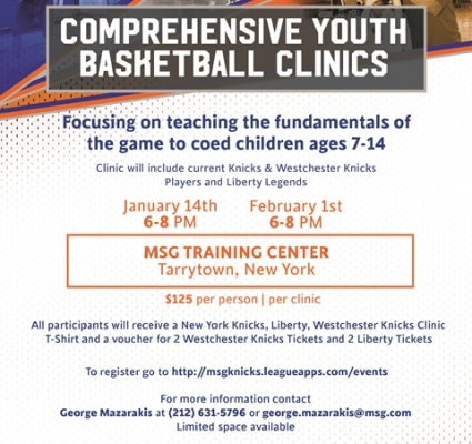 KNICKS YOUTH BASKETBALL CLINIC