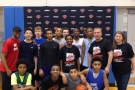 BIG APPLE BASKETBALL HOSTS GUESTS AT NY KNICKS PRACTICE FACILITY